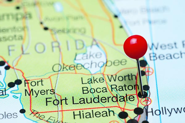 map pinned fort lauderdale florida