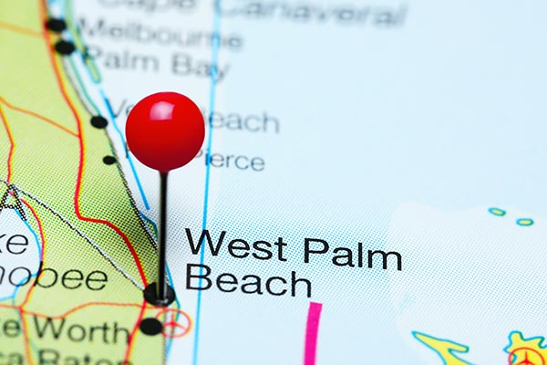 map pinned west palm beach florida
