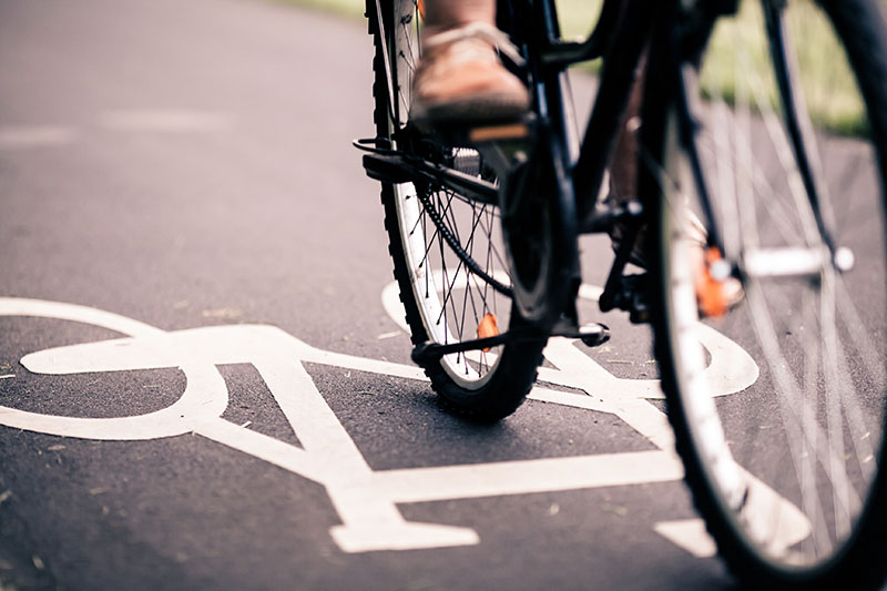 share the road with bicycle riders