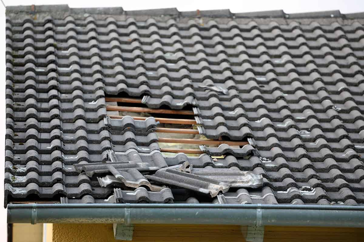 roof damage caused by storm