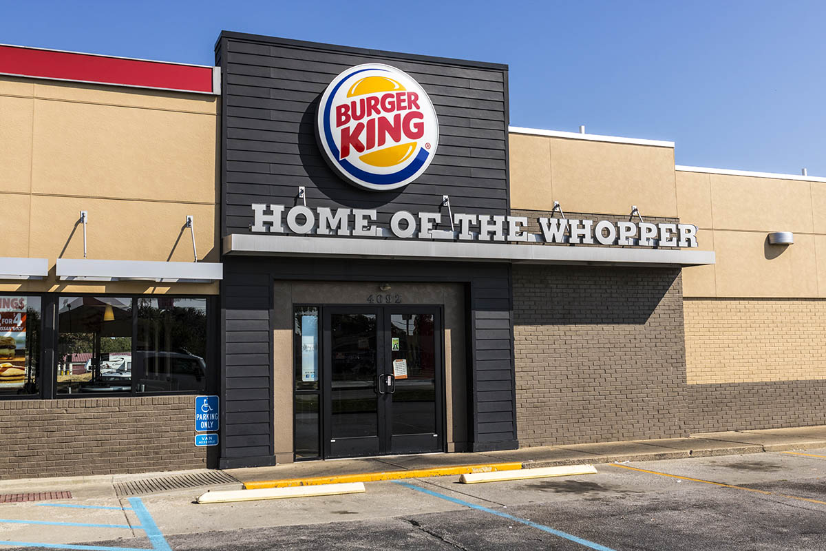 Burger King Restaurant Outside View