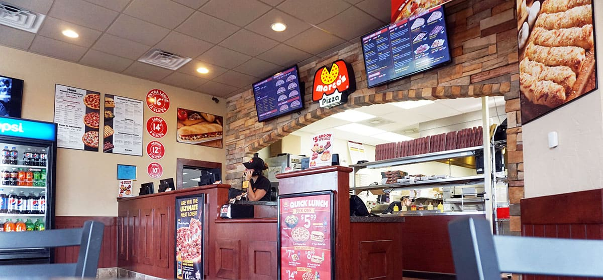 marcos pizza restaurant inside view